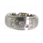 1.00 Carat Princess Cut Diamond Men's Wedding Band