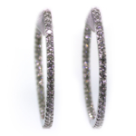 2.84 Carat Diamond and White Gold Earrings