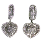 2.30 Carat Diamond and White Gold Earrings