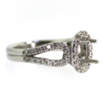 0.62 Carat Diamond Semi Mount Ring