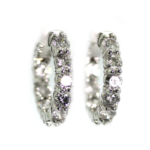3.90 Carat Diamond and White Gold Earrings