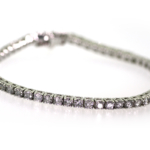 5.05 Carat Diamond and White Gold Bracelet