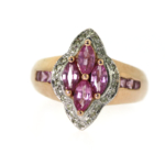 Pink Ice and Diamond Ring – Closeout