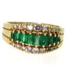 Diamond and Emerald Ring – Closeout