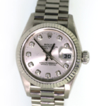 18 Karat White Gold Ladies Rolex President 79179