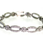 4.0 Carat Diamond and White Gold Bracelet