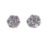 1.50 Carat Diamond and White Gold Earrings