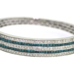 5.22 Carat Diamond and Gemstone White Gold Bracelet