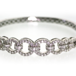 2.20 Carat Diamond and White Gold Bracelet