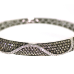 4.15 Carat Diamond and White Gold Bracelet