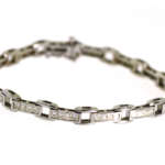 2.75 Carat Diamond and White Gold Bracelet