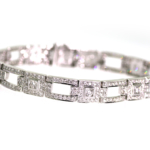 5.35 Carat Diamond and White Gold Bracelet