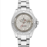 Pre-Owned Rolex YachtMaster Platinum and Stainless Steel