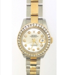 Ladies Oyster Perpetual Rolex DateJust 2 Tone 26MM